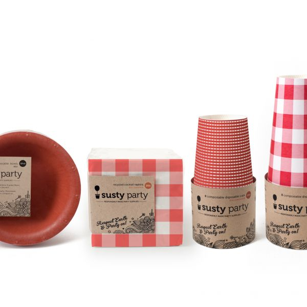 Kitchen, Home Made In America: Susty Party, Compostable Party Supplies and Tableware